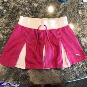 Puma girls hot pink tennis skirt